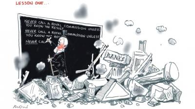 Turnbull's Bank Lesson by Alan Moir