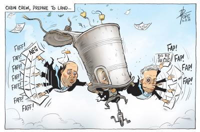 Cabin Crew Prepare to Land by David Pope