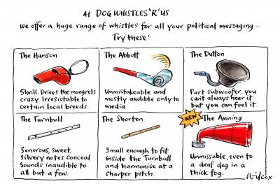 Dog Whistles R Us by Cathy Wilcox